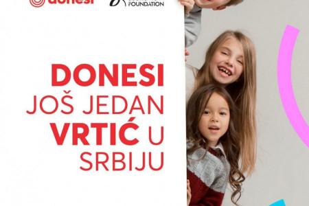 Donesi još jedan vrtić u Srbiju: Fondacija Novak Đoković i brend Donesi u zajedničkoj akciji za naše najmlađe