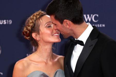 Novak i Jelena Đoković presrećni, slavlje u Beogradu (foto)