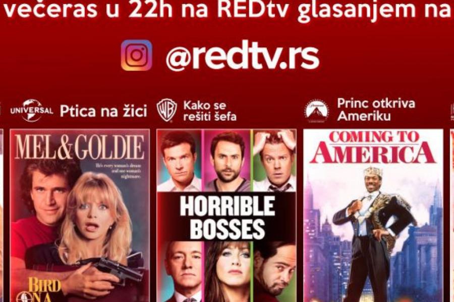 TI BIRAŠ FILM: Svake večeri na RED TV-u u 22h prikazuje se film po tvom izboru!