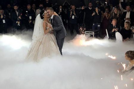 Prvi ples mladog bračnog para Ražnatović, oduševiće vas izbor pesme, ali i nova venčanica! (video)