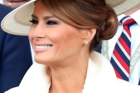 Savršena alternativa haljini:  Melanija Tramp šik i elegantna u odelu (foto)