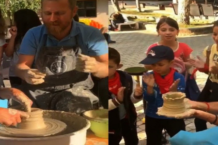 Novak Đoković uživa u svemu što radi, pa čak i kada se bavi grnčarstvom! (video)