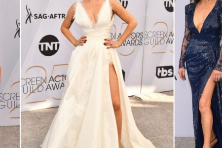Modne zvezde SAG nagrada: Duboki dekoltei, Dior, vrtoglave potpetice i dijamanti (foto)