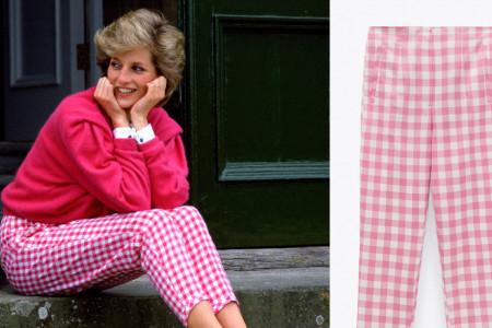 Sviđaju vam se legendarne gingam pantalone princeze Dajane? Pronašli smo ih za vas po neverovatnoj ceni