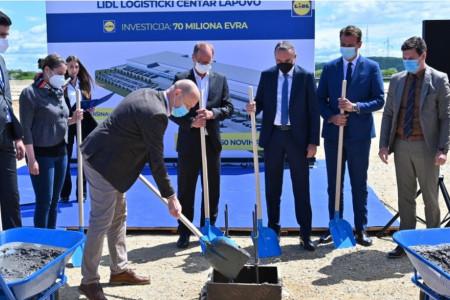 Lidl započeo gradnju drugog logističkog centra u Lapovu