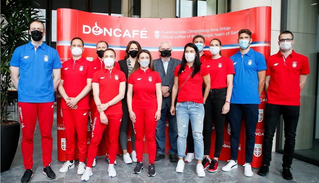 Olimpijski komitet Srbije i Doncafé organizovali druženje sa srpskim olimpijcima na putu za Tokio