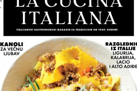 U prodaji je nova La Cucina Italiana! Najpopularniji gastronomski magazin u regionu!